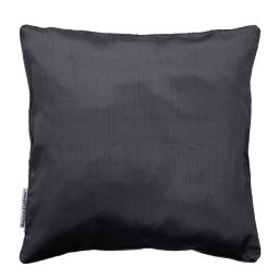 Housse de coussin +encart 60 x 60 cm shantung uni shana Anthracite