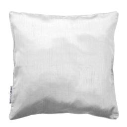 Housse de coussin +encart 60 x 60 cm shantung uni shana Blanc