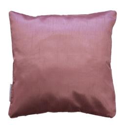 Housse de coussin +encart 60 x 60 cm shantung uni shana Rose