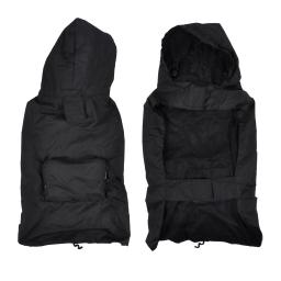 Impermeable avec capuche et poche L/40cm Noir