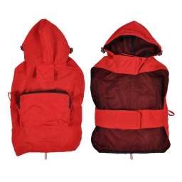 Impermeable avec capuche et poche L/40cm Rouge