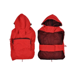 Impermeable avec capuche et poche S/30cm Rouge