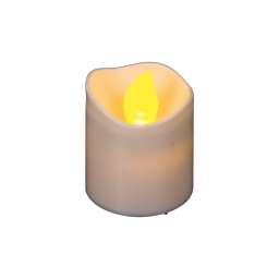 ip20/3v-set de 2 bougies votives led- a pile cr2032 inclue-d3,8cm-h4,2cm