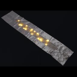 ip20/4,5v-chemin de table led-blanche-25 led blanc chaleureux-a piles-h140*28cm