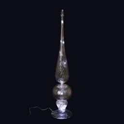 ip20/4,5v- cimier 10 led-a piles-led blanc chaleureux-base or-fil bc-h52cm