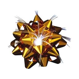 ip20/4,5v-noeud satin fibre optique-1l-fleur or-a piles-ø9cm