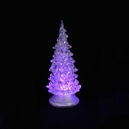 ip20/4,5v-sapin lumineux-1l change couleur-a piles-h14cm