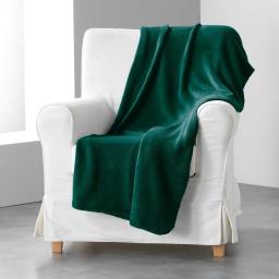Jete de canape 180 x 220 cm coral uni louna Vert