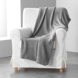 Jete de fauteuil 125 x 150 cm coral uni louna Beton