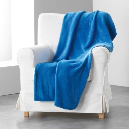 Jete de fauteuil 125 x 150 cm coral uni louna Indigo