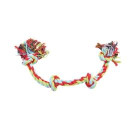 jouet geant en corde a noeuds pour chien - tricolore  - l.70cm