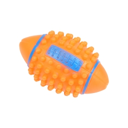 jouet pour chien balle de rugby en vinyl avec picots h11.5*ø7cm