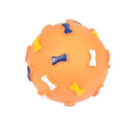 jouet pour chien balle en vinyl avec motifs os ø12cm