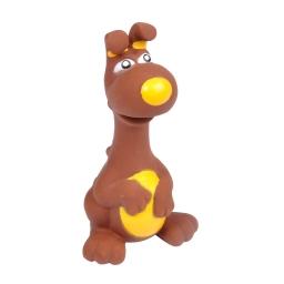 jouet pour chien kangourou en latex h15cm coloris brun