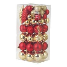 kit boules 57 decos de noel-27*ø4cm boules+6 pommes de pin+24*ø6cm boules