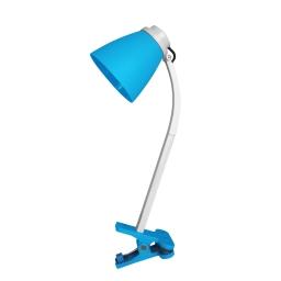 lampe de bureau clip plastique l.20*l.9.6*h.36cm e14 bleu