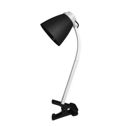 lampe de bureau clip plastique l.20*l.9.6*h.36cm e14 noir