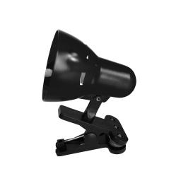 lampe de bureau clip plastique l.8.5*h.13cm e14 noir