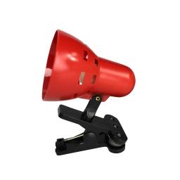lampe de bureau clip plastique l.8.5*h.13cm e14 rouge