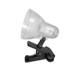 lampe de bureau clip plastique l.8.5*h.13cm e14 transparent