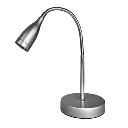 lampe de bureau led abat-jour d4*h9cm-base d12.5*2.5cm-argent