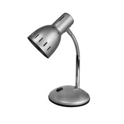 lampe de bureau metallique l.20.5*l.14*h.30cm e14 argent