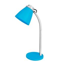 lampe de bureau pied plastique l.19*l.10.6*h.32cm e14 bleu