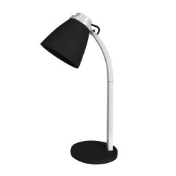 lampe de bureau pied plastique l.19*l.10.6*h.32cm e14 noir