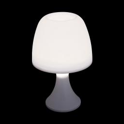 lampe de table en plastique a piles ø16*h25cm blanc