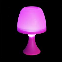 lampe de table en plastique a piles ø16*h25cm fuchsia