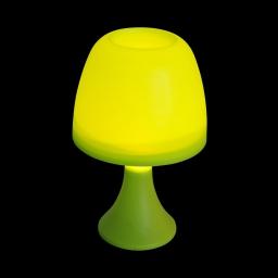 lampe de table en plastique a piles ø16*h25cm vert anis