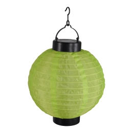 lanterne chinoise solaire vert anis - 300mah ni-mh batterie rechargeable - ø20cm