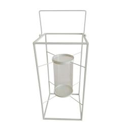 lanterne metal 18*18*h36cm blanc