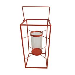 lanterne metal 18*18*h36cm rouge