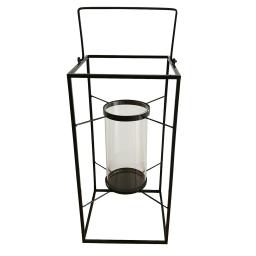 lanterne metal 24*24*h48cm noir