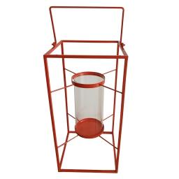 lanterne metal 24*24*h48cm rouge