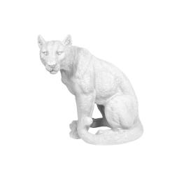 léopard en polyresine blanc h.41*l.22.5*p.40cm