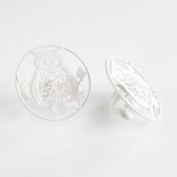 Lot de 2 embrasses pince (0) 8 cm metal peint gufo Blanc