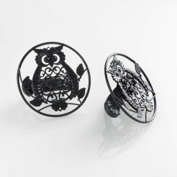 Lot de 2 embrasses pince (0) 8 cm metal peint gufo Noir