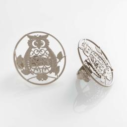 Lot de 2 embrasses pince (0) 8 cm metal peint gufo Taupe