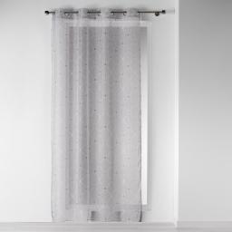lot de 2 panneaux a oeillets 140 x 240 cm voile imprime transfert elegante