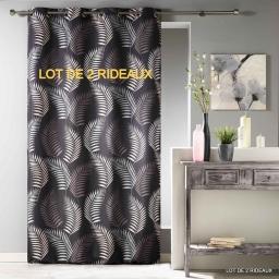 Lot de 2 rideaux a oeillets 140 x 260 cm polyester imprime goyave Choco