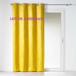 Lot de 2 rideaux occultant 140 x 240 cm tropicaline Jaune