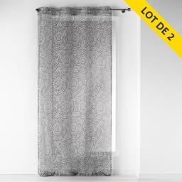 lot de 2 Voilages a oeillets 140 x 240 cm voile imprime transfert dalamo