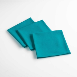 lot de 3 serviettes de table 40 x 40 cm coton uni aubeline Indigo
