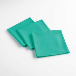 Lot de 3 serviettes de table 40 x 40 cm coton uni aubeline Turquoise