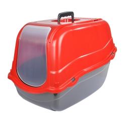 maison de toilette pour chat avec couvercle rouge 57*39*h.41cm
