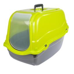 maison de toilette pour chat avec couvercle vert anis 57*39*h.41cm