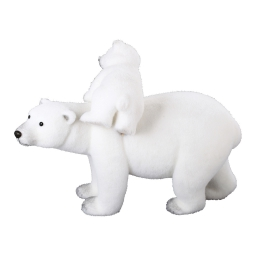 maman+bebe ours-couleur blanche-h49*l65*27cm