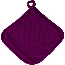 Manique 19 x 19 cm polycoton+silicone cuistot Prune